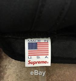 100% AUTHENTIC Supreme New York S Logo Hat Camp Cap Cotton Twill Not Wool Black