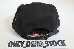 5 Panel Supreme Washed Chino Twill Black Cap Hat Caps Casquette Snapback Camp