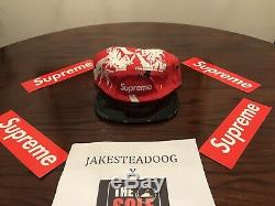 Authentic Supreme Bamboo Camp Cap Hat Red SS13 Box Logo NWOT