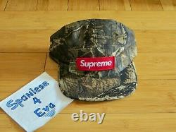 BRAND NEW with tag F/W 2011 Supreme Camp Cap Real Tree camo red box logo