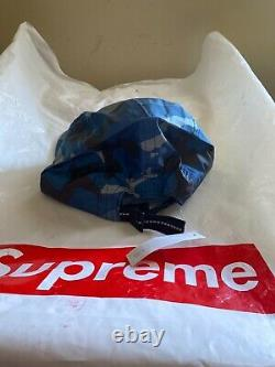 DSWT Supreme FW18 Reflective Camo Camp Cap Blue 100% Authentic in HAND