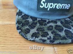 F/W 2011 Supreme Leopard Camp Cap Panel Hat Era PCL CDG Green Olive
