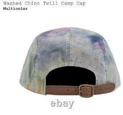 NEW Supreme Washed Chino Twill Camp Cap Multicolor SS21 ORDER CONFIRMED SOLD OUT