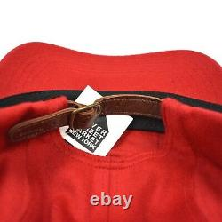 NWT Supreme Loro Piana Luxury Wool Box Logo Camp Cap Hat Red FW20 DS AUTHENTIC