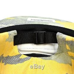 NWT Supreme NY Black Box Logo Yellow Camo Woven Camp Cap Hat SS19 DS AUTHENTIC