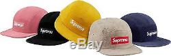 New 2016 S/S Supreme Suede Camp Cap Gold or Dusty Pink (1 Hat Only)