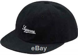 New Supreme Brushed Twill Script 6-Panel Cap Hat Camp Fall Winter 2017 FW17