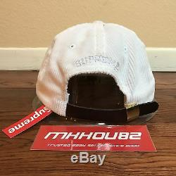 New Supreme Corduroy S Logo 6-Panel Cap Hat Camp Classic Spring Summer 2017 SS17
