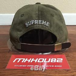 New Supreme Suede S Logo 6-Panel Cap Camp Hat 5 Classic Fall Winter 2016 FW16