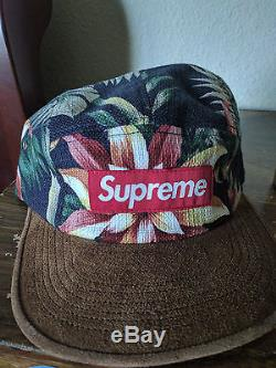 RARE And AUTHENTIC 2012 S/S Supreme Floral Suede Camp Cap
