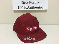 SUPREME 16 SS Jacquard Camp CAP NEW Black Red Blue PCL CDG MOTION 100 Authentic