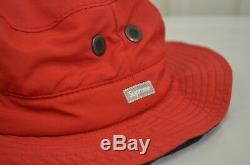 SUPREME Contrast Boonie Black Yellow Red S/M box logo camp cap F/W 18