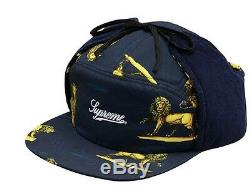 SUPREME LIONS HAT CAMP 5 Panel Lions Trail SM/MEDIUM Navy CDG UNDERCOVER PALACE