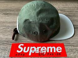 SUPREME OLIVE GREEN CAMP CAP SS19 LEATHER STRAP CHINO TWILL hat box logo shirt