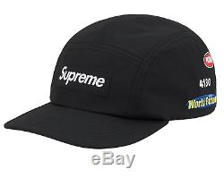 SUPREME TRAIL CAMP CAP HAT BLACK BOX LOGO SS20 New With Tags and Confirmed Order
