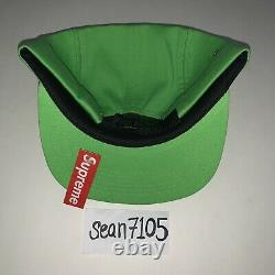 SUPREME Washed Twill Camp Cap Neon Green Size OS BRAND NEW 2012