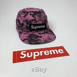 SUPREME X CAP NYCO Twill Camp Cap from August 2017 Collection Pink Digi Camo