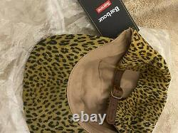 Supreme Barbour Waxed Cotton Camp Cap Leopard Brand New, Free Supreme add-ons