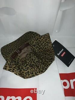 Supreme Barbour Waxed Cotton Camp Hat Cap Leopard Print SS20 Brand New