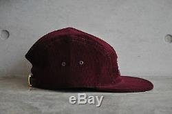 Supreme Burgundy Croc Strap Camp Cap Box Logo
