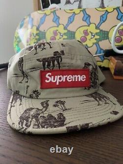 Supreme Camel Ripstop Camp Cap SS12 Brand New CDG FW S Logo Classic 5 Panel Hat
