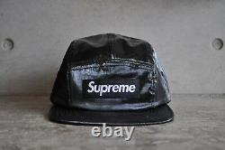 Supreme Coated Linen Box Logo Camp Cap Black