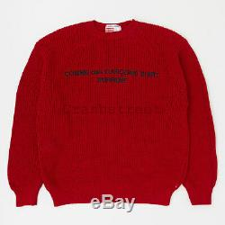 Supreme Comme Des Garcons Shirt Sweater tee logo box hat camp cap Red (used)