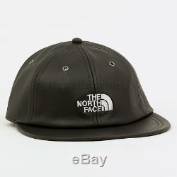 Supreme FW18 The North Face Leather 6-Panel cap logo hat tee camp box Black