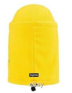 Supreme Facemask Polartec Camp Cap Hat Yellow FW19 FW19H14 Supreme New York 2019
