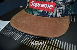 Supreme Floral Suede Camp Cap Navy S/S 2012 TNF CDG F/W Box Logo Hat S Motion