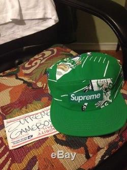 Supreme Football Camp Cap GREEN FW2013 BRAND NEW DS without Tags