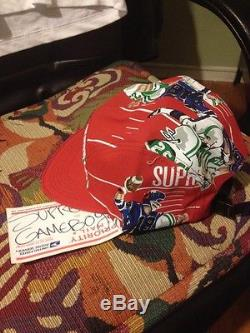 Supreme Football Camp Cap Red FW2013 BRAND NEW DS without Tags