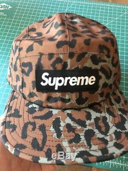 Supreme Gore-TEX Leopard Camp Cap (FW19) New With Tags