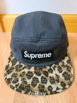 Supreme Leopard Camp Hat Black F/W 2011 USED