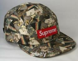 Supreme Liberty Thorgerson Black F/W 2013 Camp Cap 5 Panel Hat Deadstock