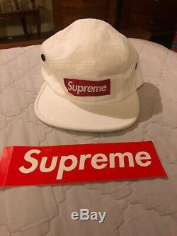 Supreme Napped Canvas Camp Cap White FW18 100% Authentic (Used for display)