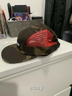 Supreme New York Side Mesh Camo Red S/S 2013 Camp Cap 5 Panel Hat