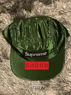 Supreme SS15 Iridescent Ripstop Camp Cap Green DS NWT