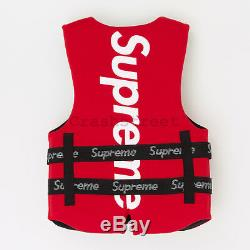 Supreme SS18 OBrien Life Vest tee cap logo camp box keychain tool hoodie Red