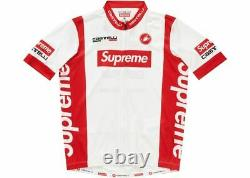 Supreme SS19 Castelli Cycling Jersey top tee camp box cap logo Red/White XL