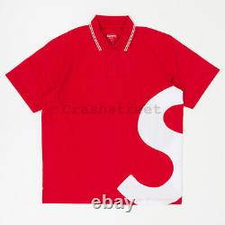 Supreme SS19 S Logo Polo tee box hat logo camp sweatshirt cap Red