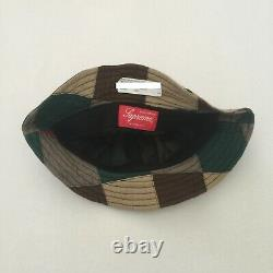 Supreme S/s 2019 Patchwork Bell Hat Crusher S/m Hat Bucket Multi Not Camp