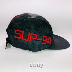 Supreme Side Logo Camp Cap Green & Red SS19 H93 SUP 94 One Size Hypebeasts