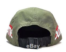Supreme Side Panel Camp Cap Olive Green O/S FW18 Box Logo