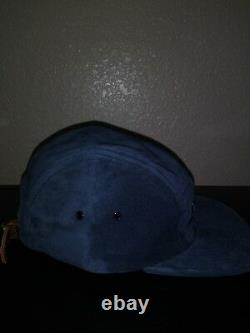 Supreme Suede Camp Cap Navy SS18 5-Panel Hat New Box logo