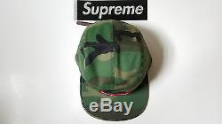 Supreme Washed Chino Twill Camp Cap Adult size Supreme NYC 2016 Woodland camo