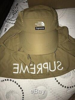 Supreme x The North Face Sunshield Camp Cap Gold IN HAND Ships SAME DAY