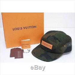 Used Supreme Louis Vuitton Collab Camping Cap Camouflage Monogram Hat JAPAN F/S